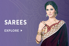 Flat 60% OFF on Festive, Designer, Wedding and Casual Sarees