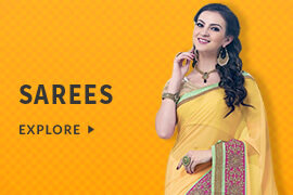 Avail 60% off on Sarees (Products include Festive, Designer, Wedding, Casual  and more)