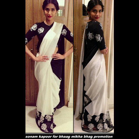 White transparent saree online shopping