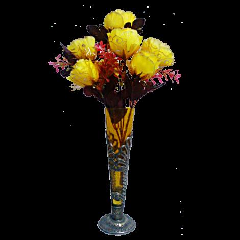Glass Flower Vase Glass Flower Vase Yellow