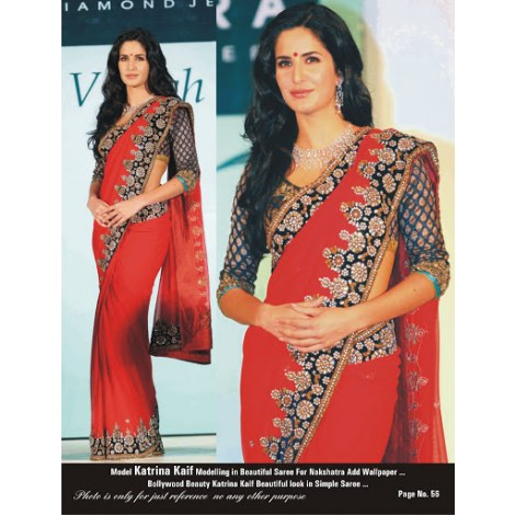 Replica Designer Clothing Patterns Katrina Kaif Replica Saree