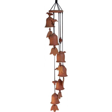 Terracotta wind chimes with ceramics finishing online for Terracotta wind chimes