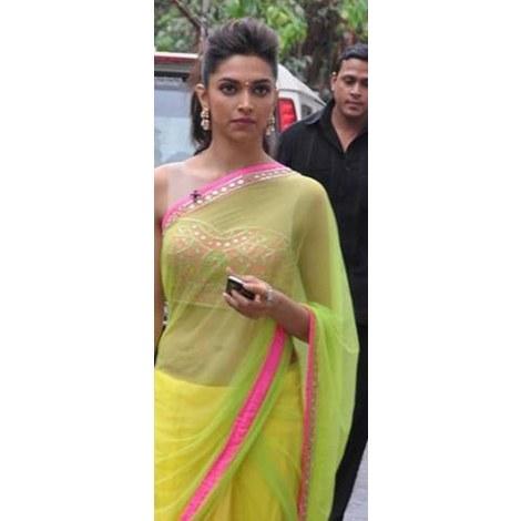 Deepika chennai express saree - mint green-Online Shopping-