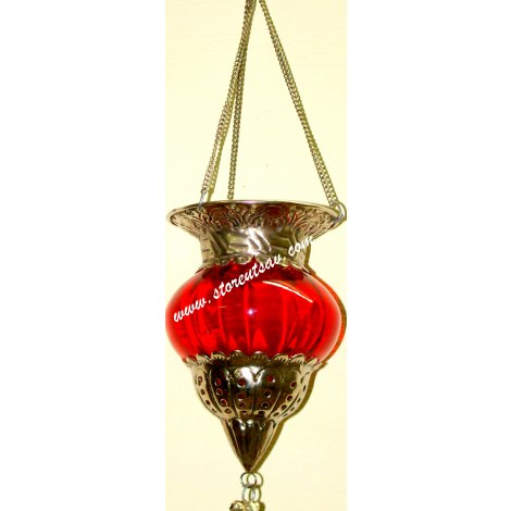 Diyas Glass Hanging Candle Holder