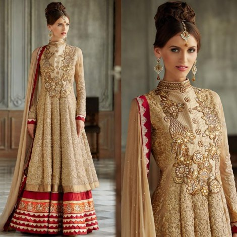 CHIKOO WEDDING ANARKALI DRESS KMV101006-Clothing-Stylish Bazaar