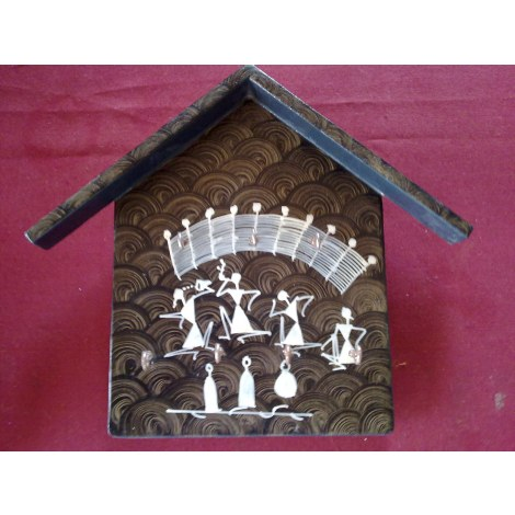 Key holder black home decor tribal arts collection for Mural key holder