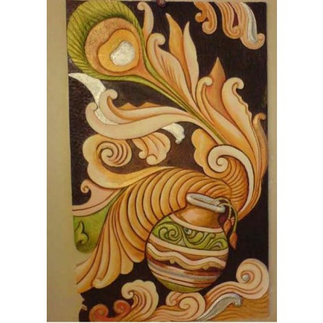 3d siporex mural online shopping for Clay mural designs