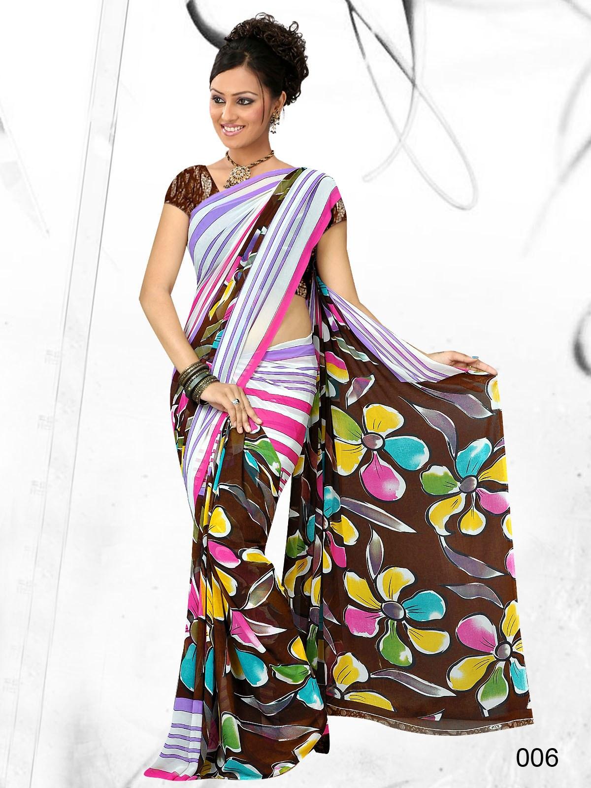 Flower Printed Sarees Designer Printed Saree