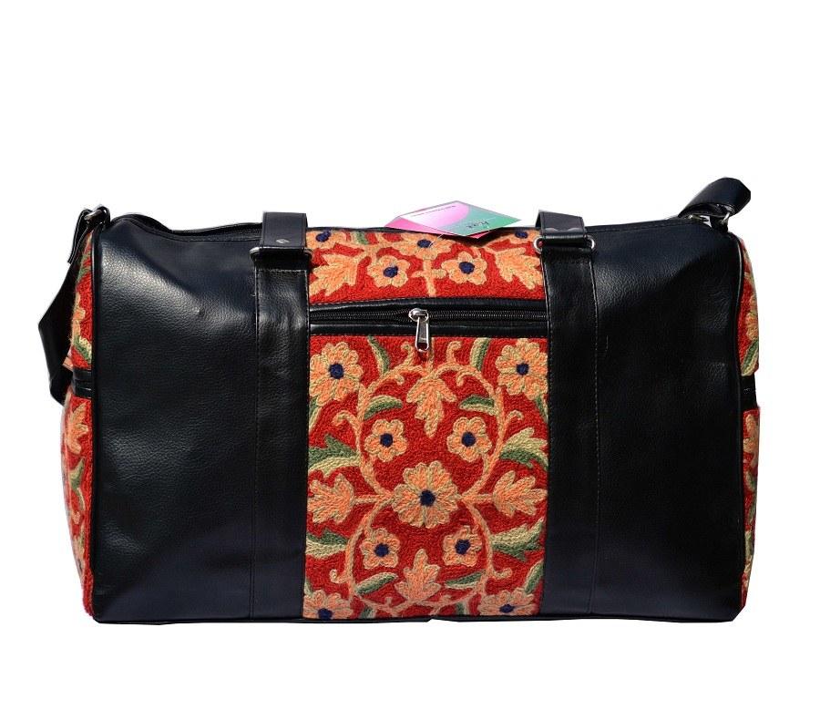 Kashmiri auburn black hand bag online shopping