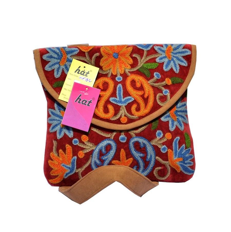 Kashmiri rust red sling bag online shopping