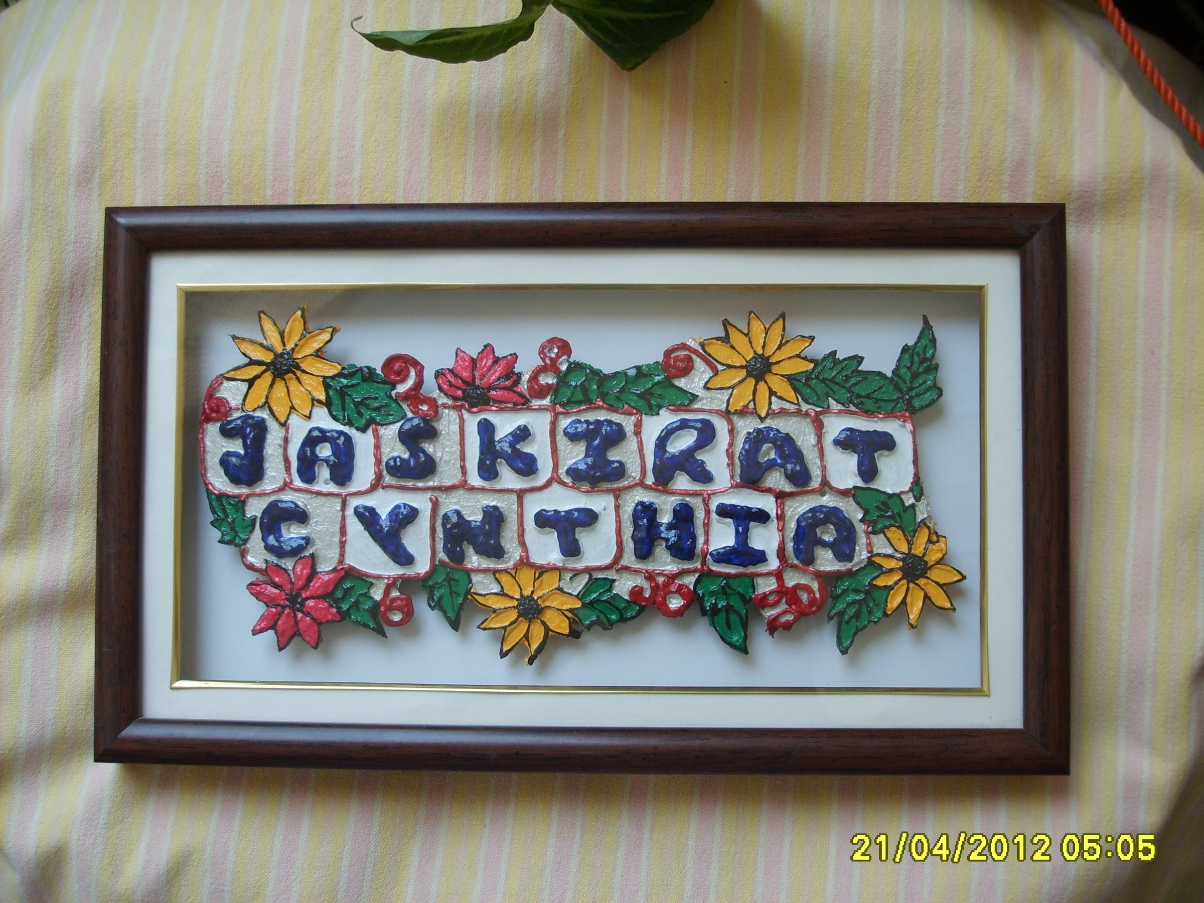 Decorative Name Plates For Home: Personalized Name Plate-Handmade -Online Shopping