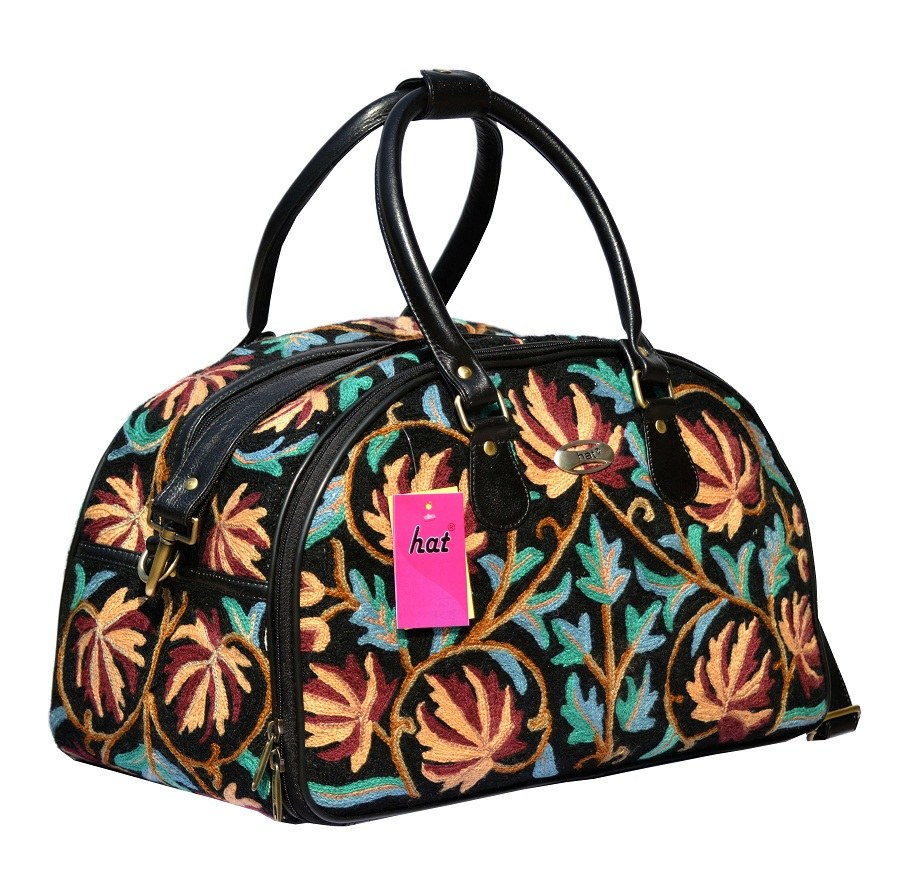 Kashmiri onyx black travel bag online shopping