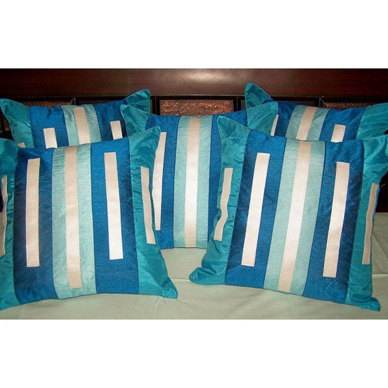 5 Pc Cushion Covers Decor Sofa Cushions 16x16 Inches