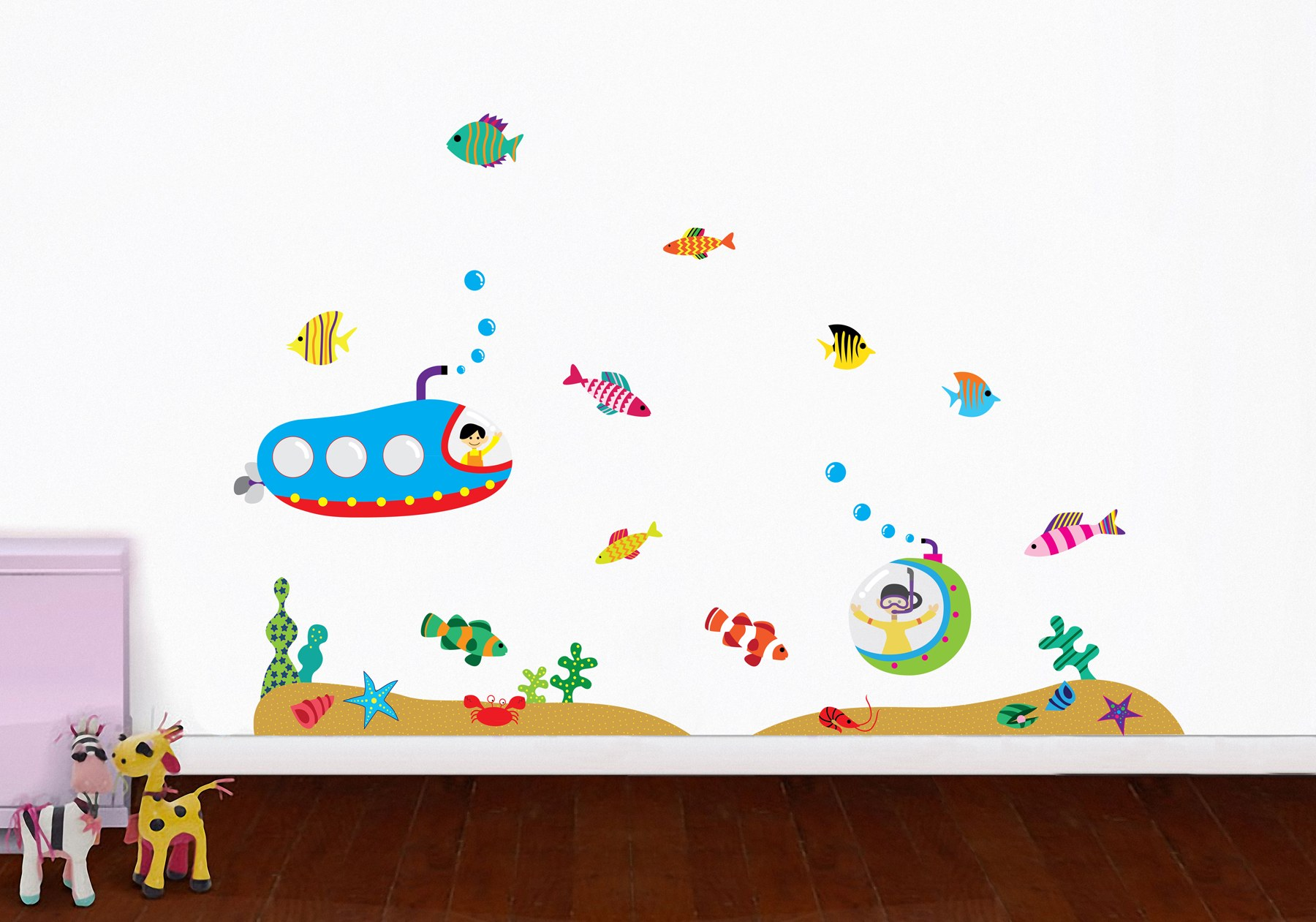 Wall Sticker Online Shopping Underwater Voyage Repositionable Stickers Online Shopping 5
