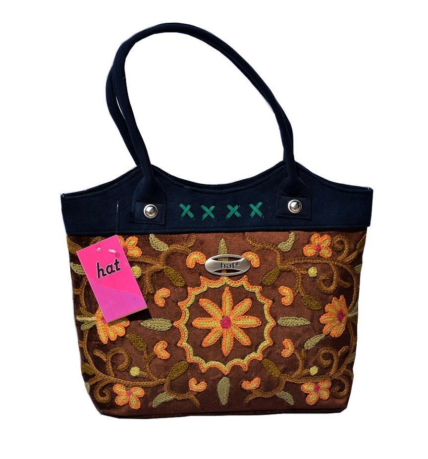 Kashmiri bronze brown hand bag online shopping