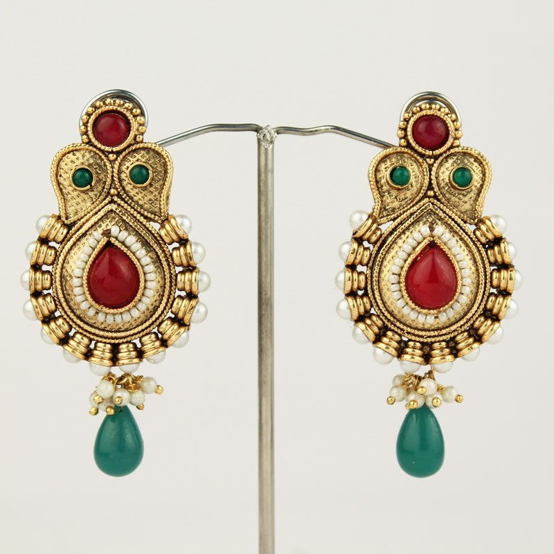 Pearl Earrings Designs in Gold Pearl Earrings Designs