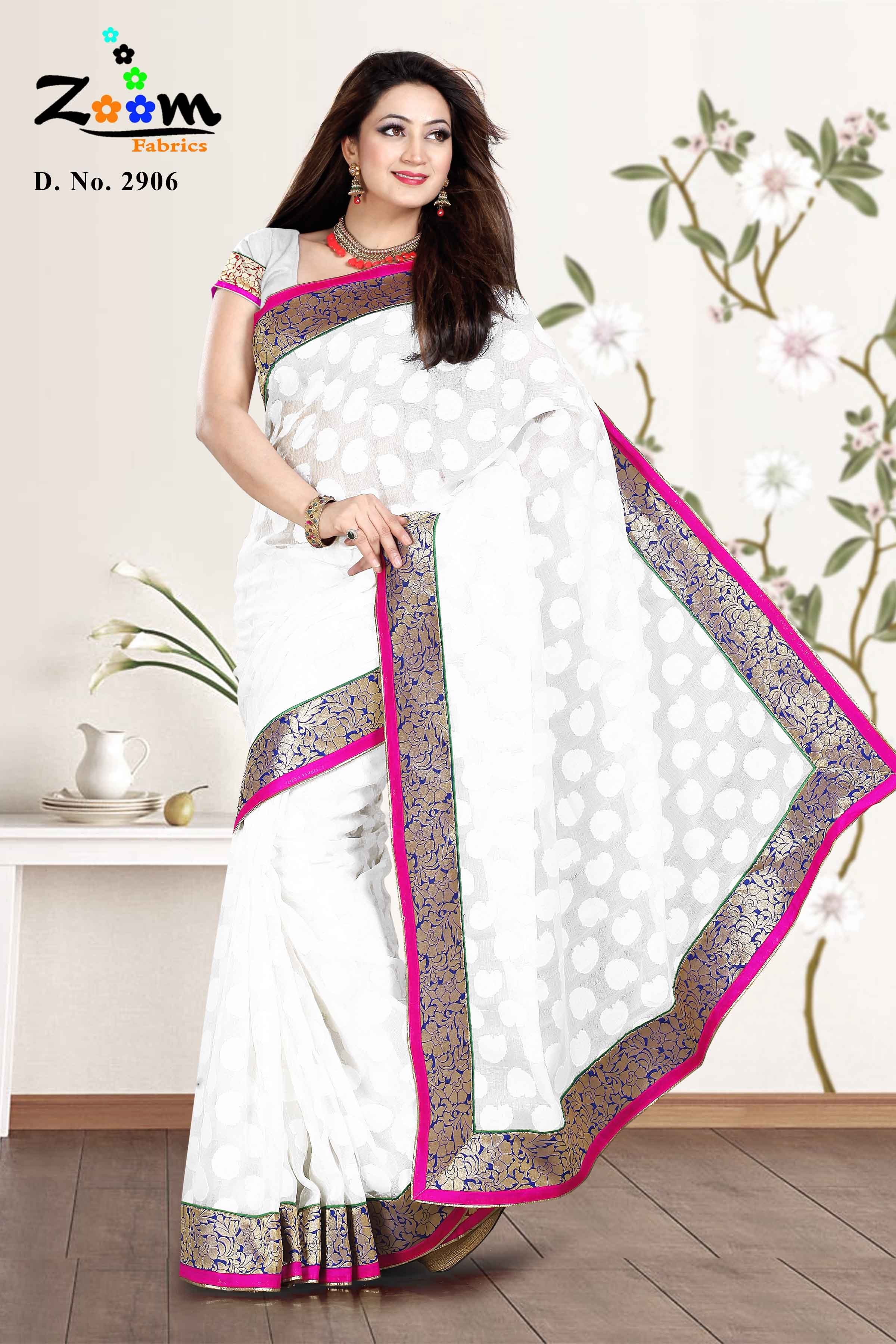 Designer Embroidered Saree Net Parsi Work Party Wear Saree: AF2906 available at Craftsvilla for Rs.1115