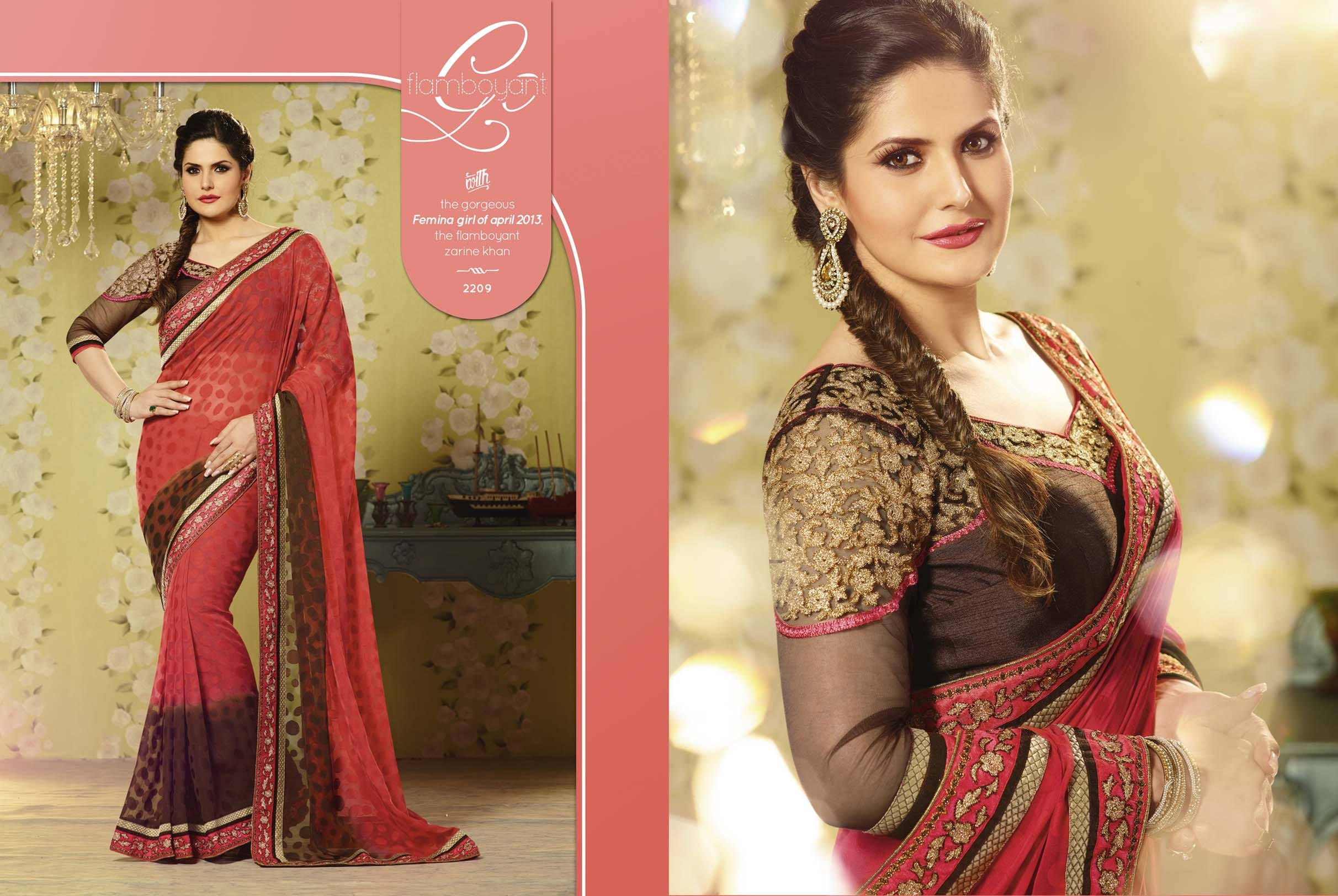 Design Party wear  Jacquard Georgette  Saree .Whith Embroidered Designer Blouse. available at Craftsvilla for Rs.2550