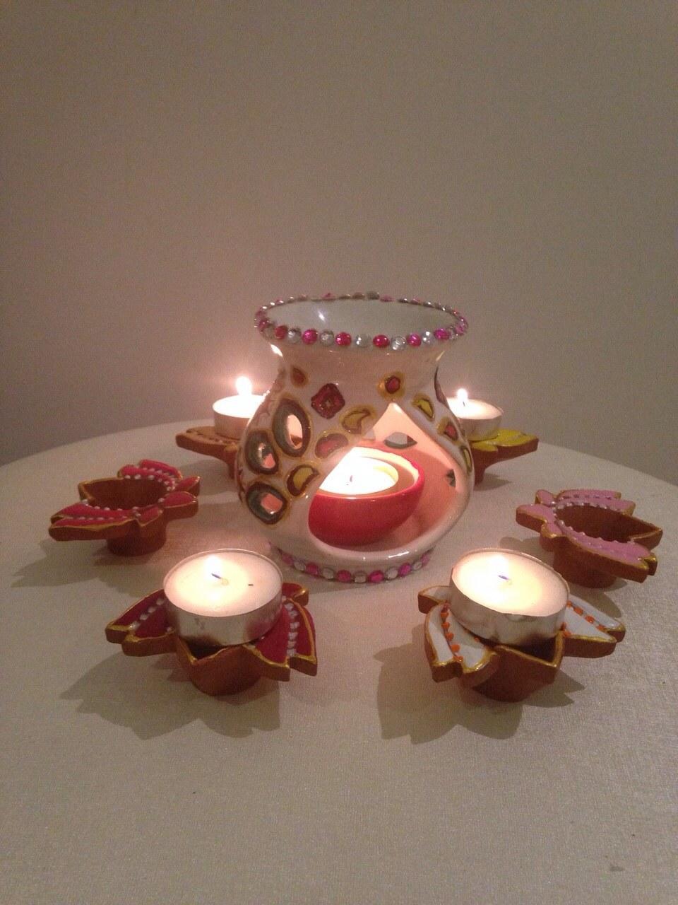 Diya art and craft images for Art and craft diya decoration