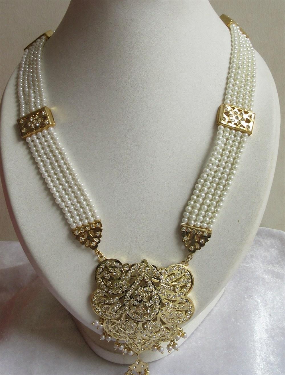 rani haar in emeralds with earrings 3 layer raani haar
