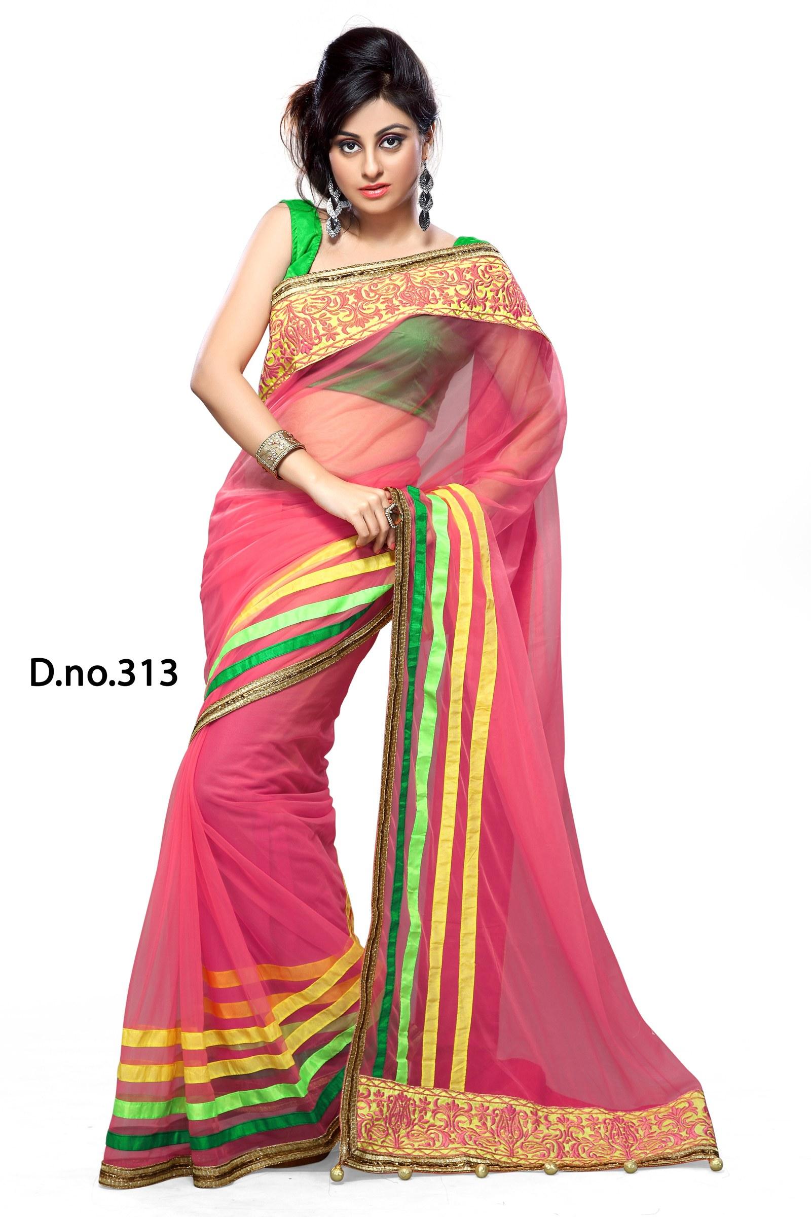 Saree World: Bollywood Replica Sonali Bendre Pink Saree Sari-Online