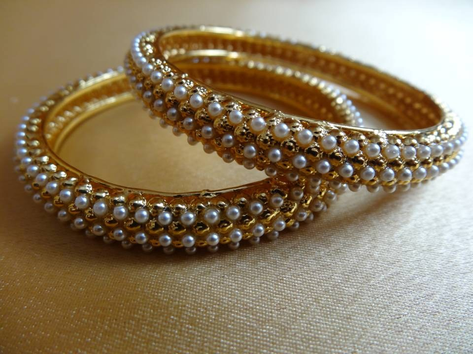 Pearl bangles online shopping for bracelets n bangles by dhaanya online shopping Home decoration with bangles