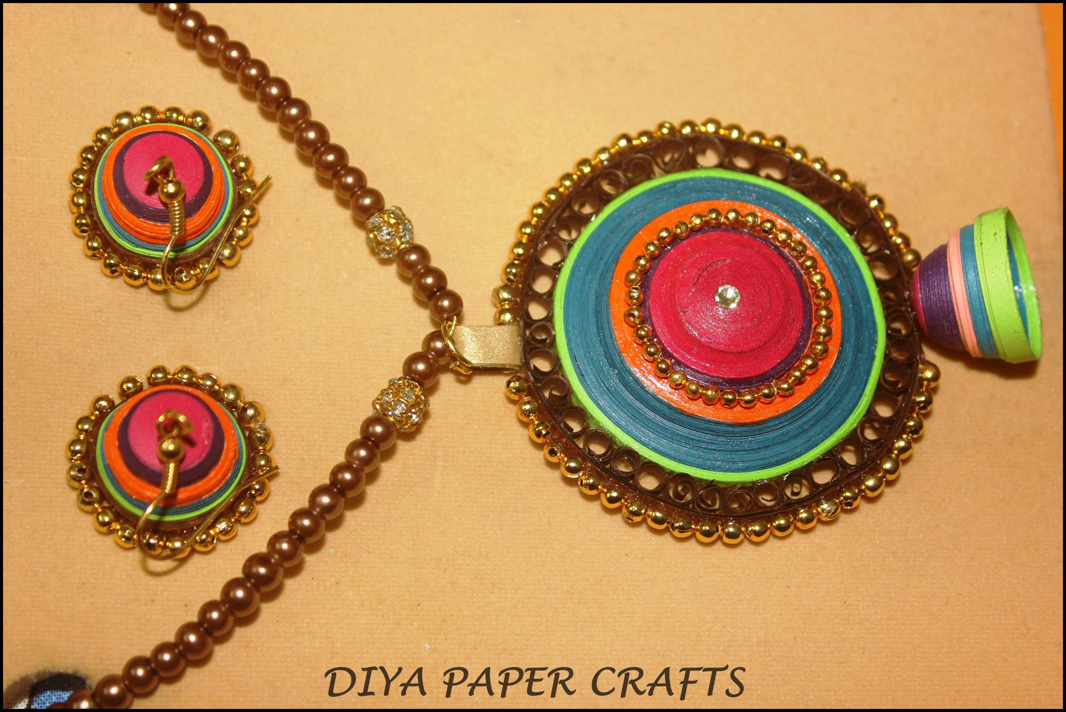 Paper Jewellery Necklace Jewellery Diya Paper Crafts 1
