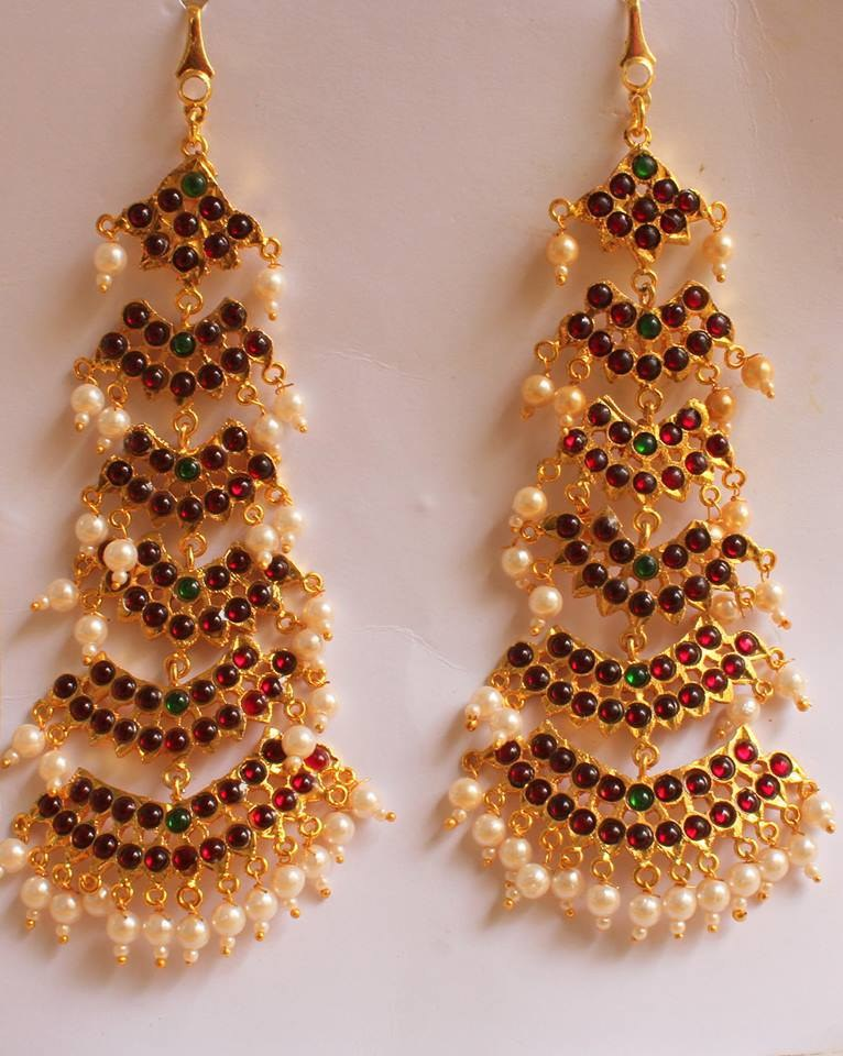 gallery for gt temple jewellery earrings