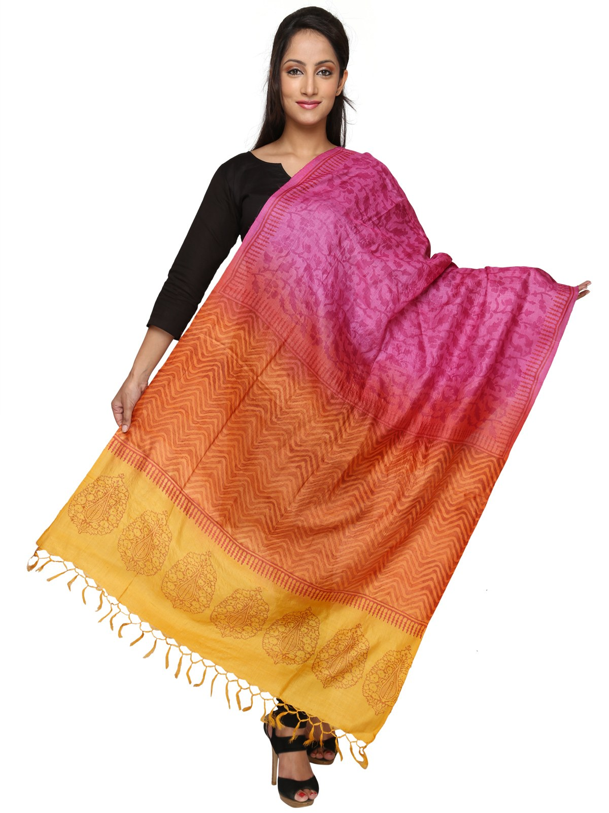 Silk dupatta online shopping india