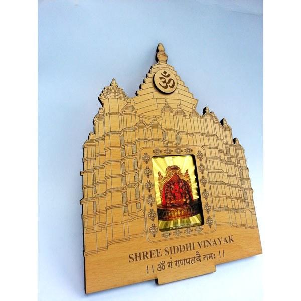 Colourful Siddhi Vinayak Made In 24KT Gold-foil