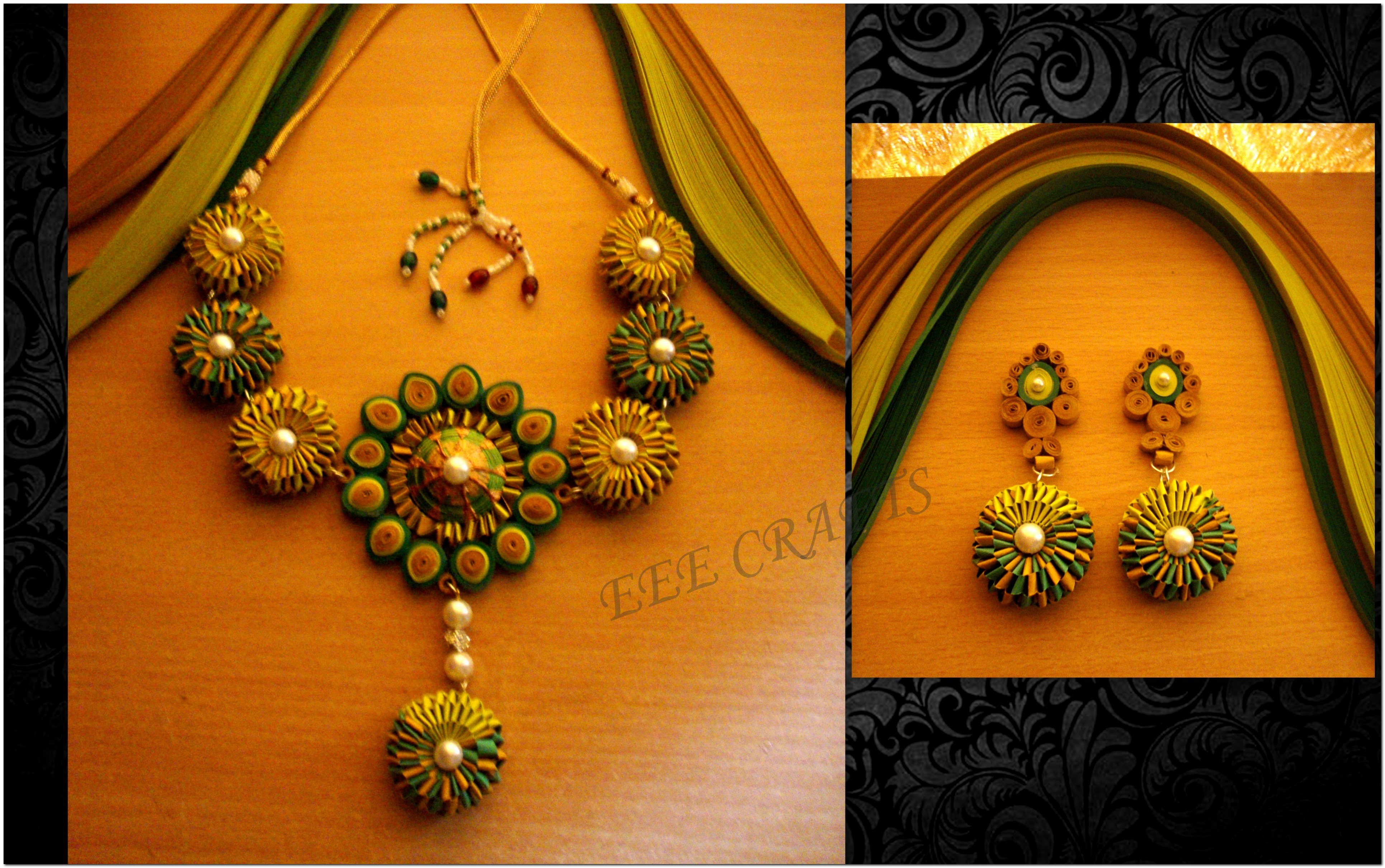 beautiful quilled weaving set   online shopping for jewellery sets by