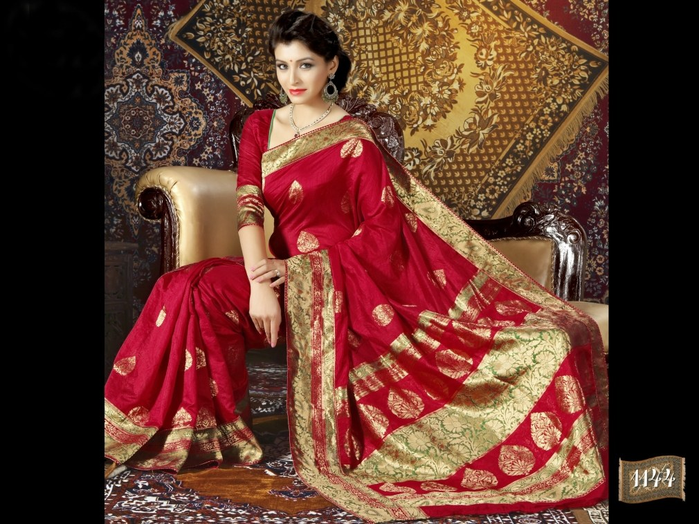 Red Designer Silk Saree Online Shopping For Silk Sarees