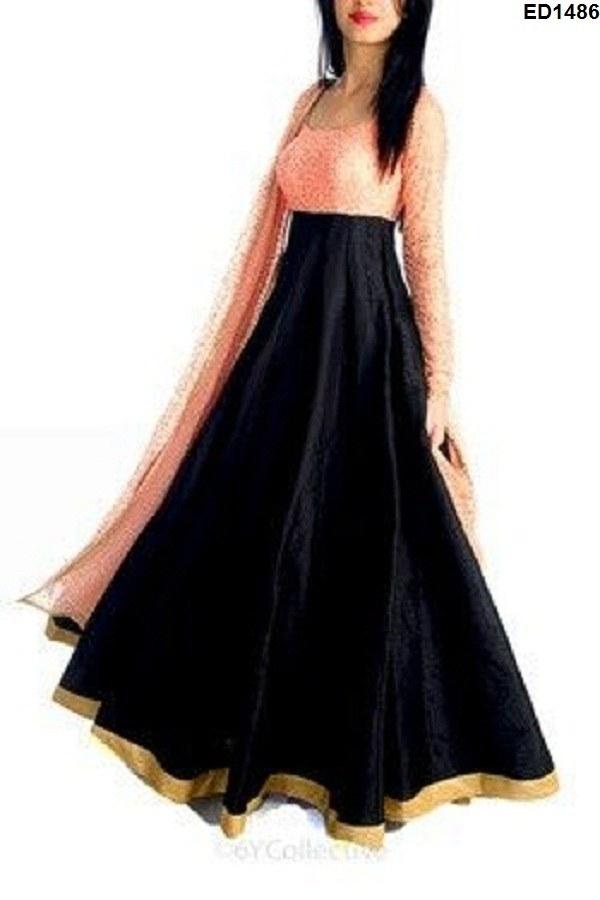 Wedding season dress new year partywear modern girls gher long dress
