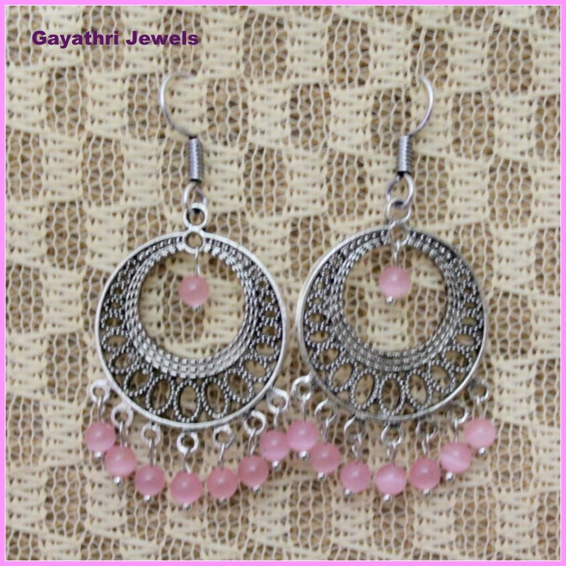 Pink chandeliers online shopping for earrings by gayathri jewels online shopping - Chandelier online shopping ...
