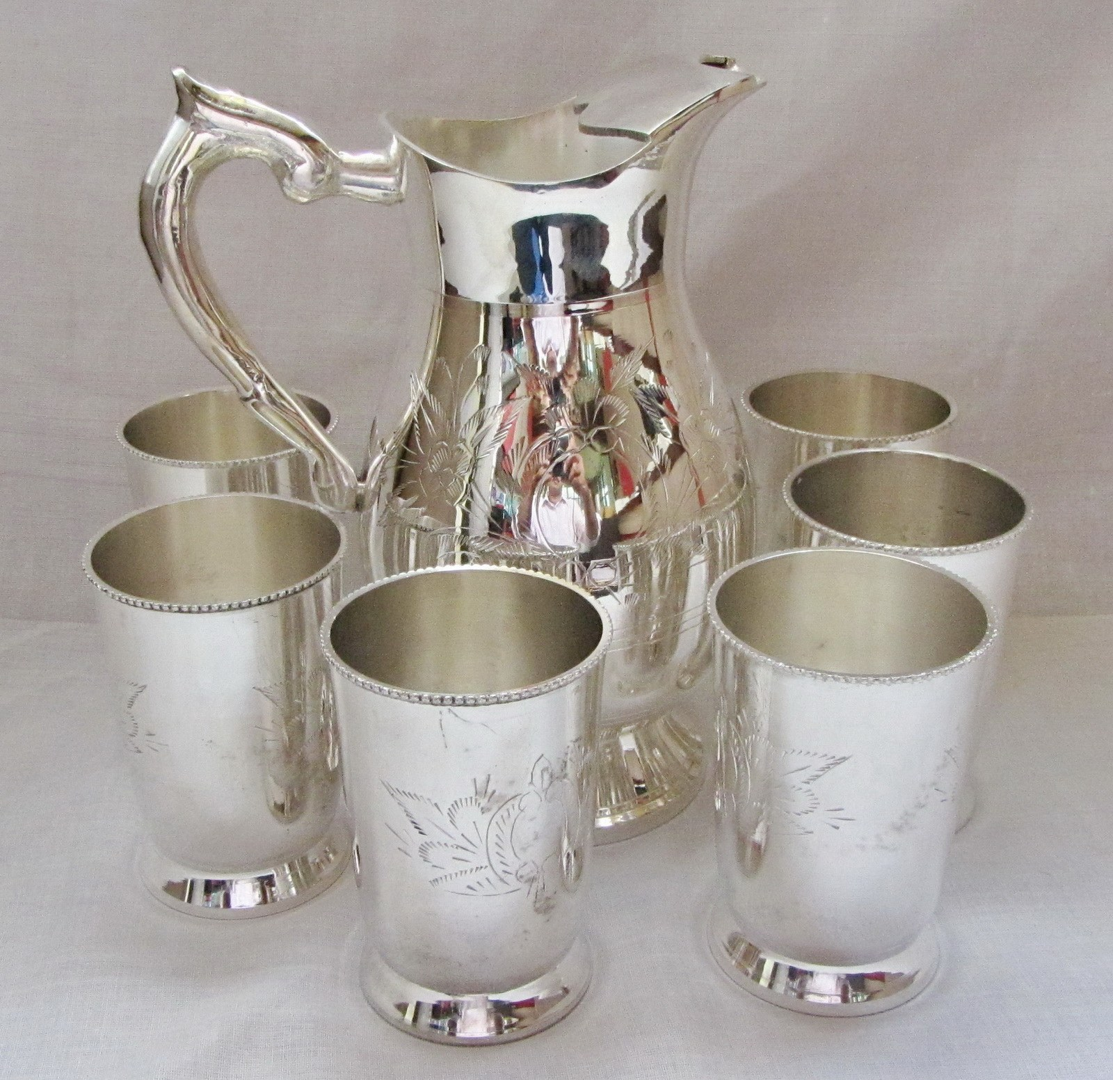 Brass silver plated decorative 6 glasses jug lemon set for Gifts for home decor