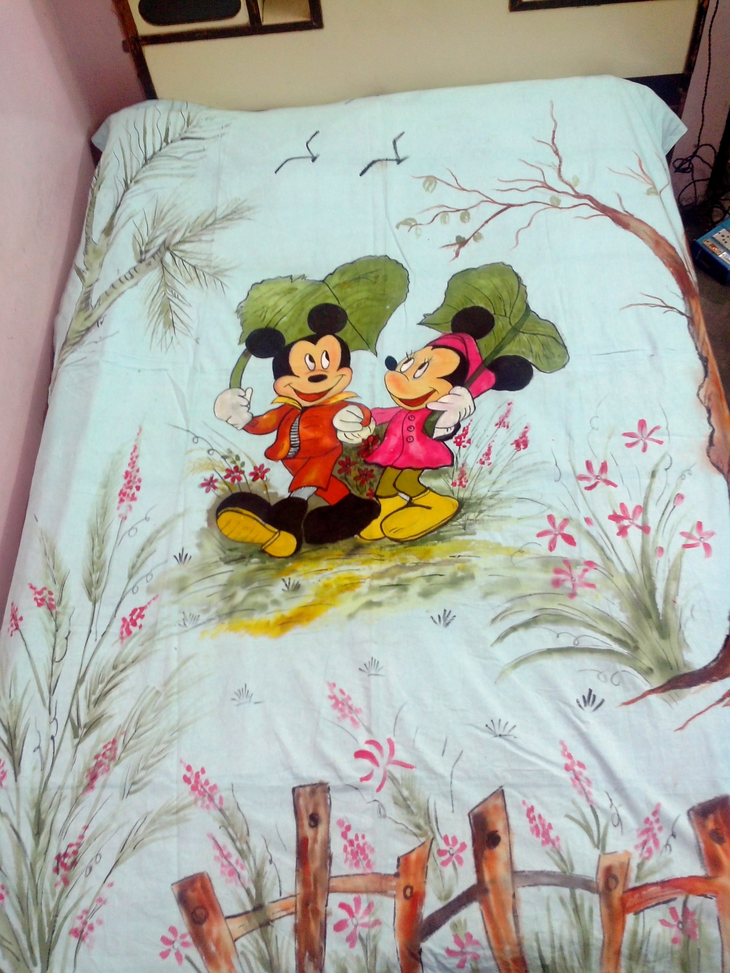Hand Painted Bedsheet With Cartoonic Design Online Shopping 0