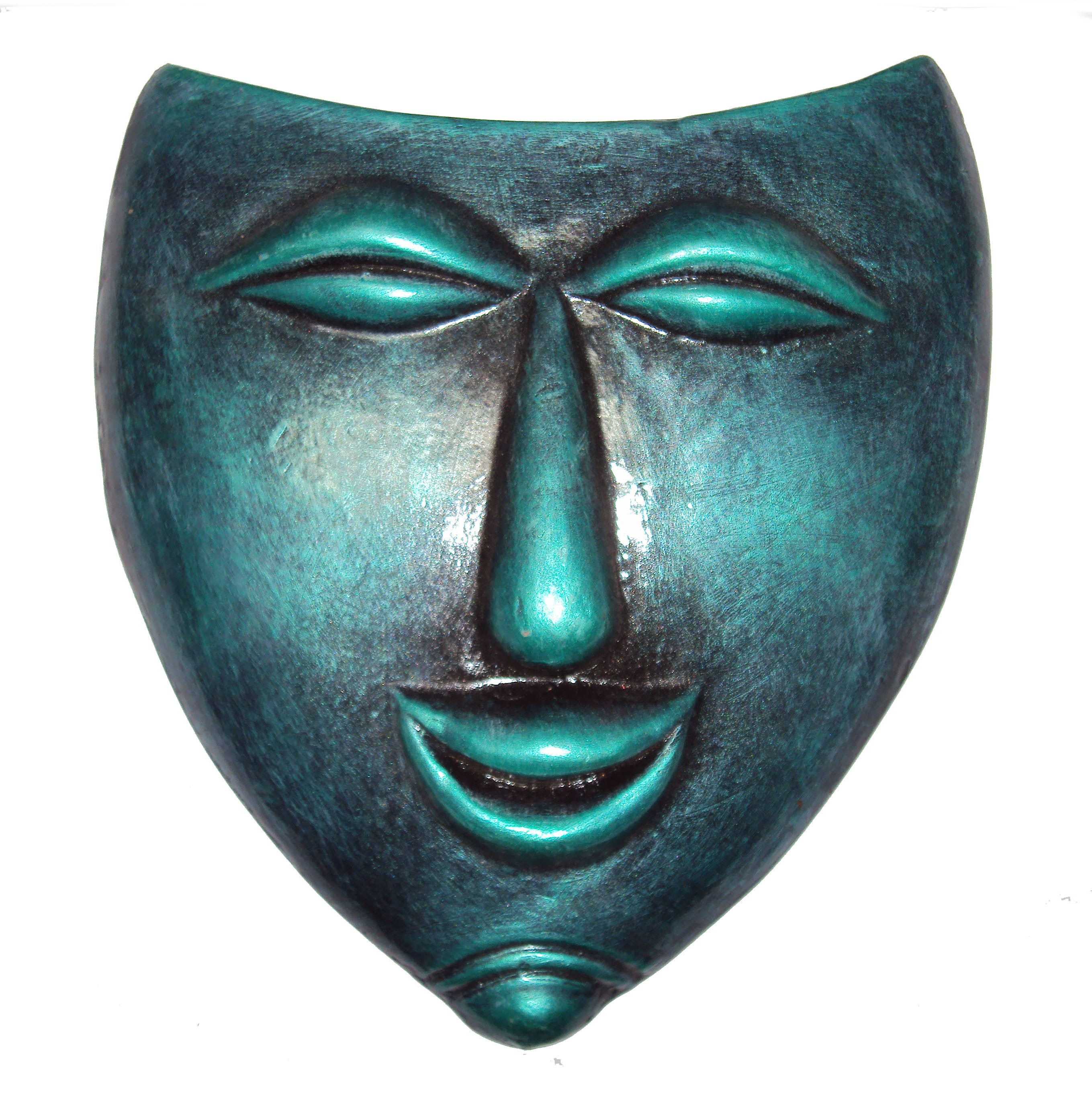 Decorative Wall Face Masks : Hand art home decorative terracotta wall hanging laughing