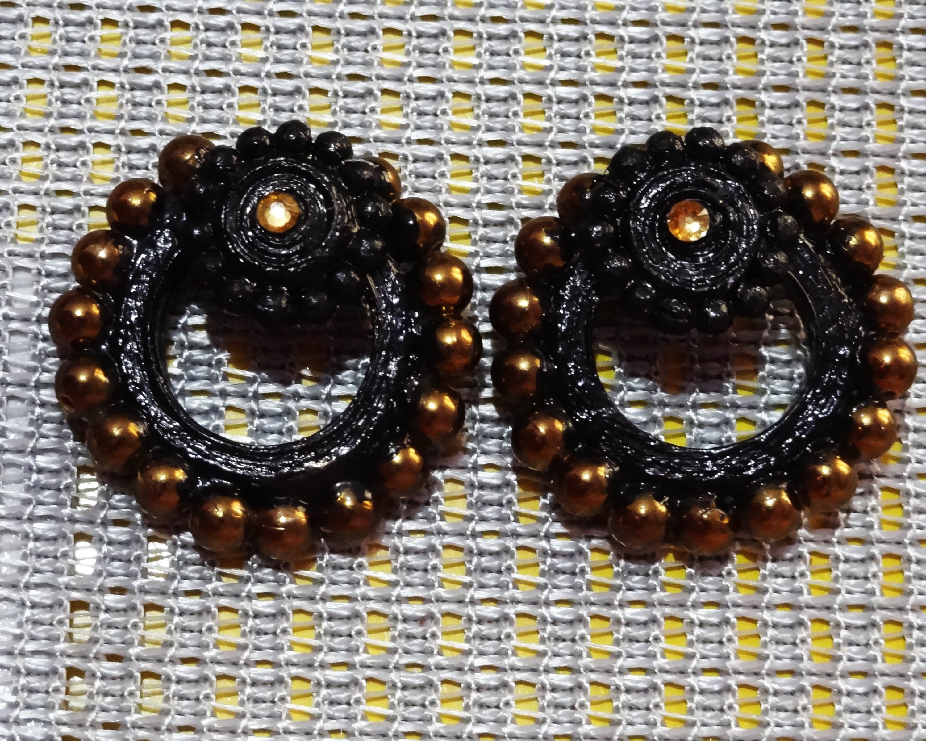 PAPER STUD TYPE EARRING (QUILLED)-Online Shopping-