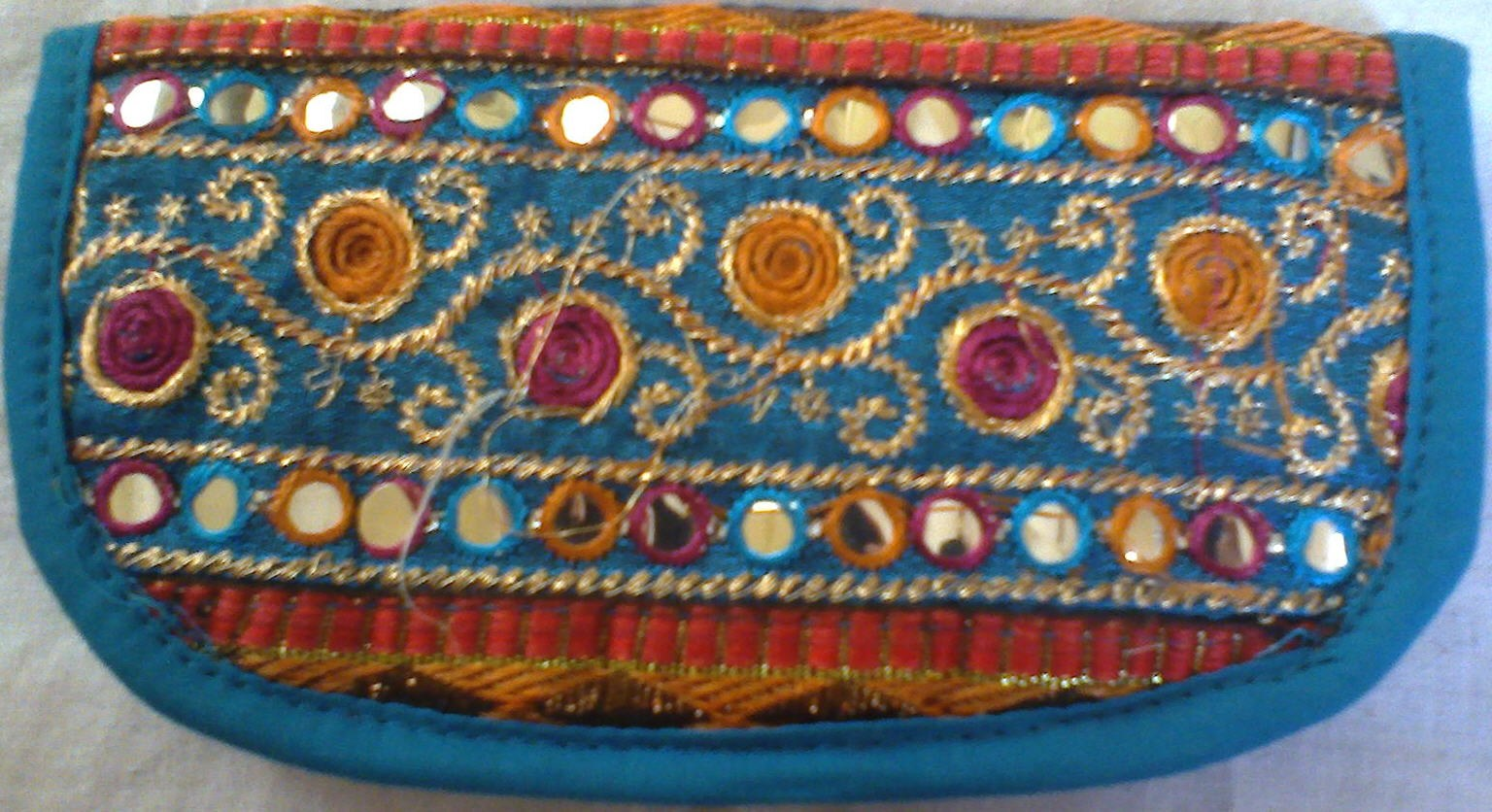 Kutch Work Traditional Clutch - Embroidery Work - Ishita Fashions