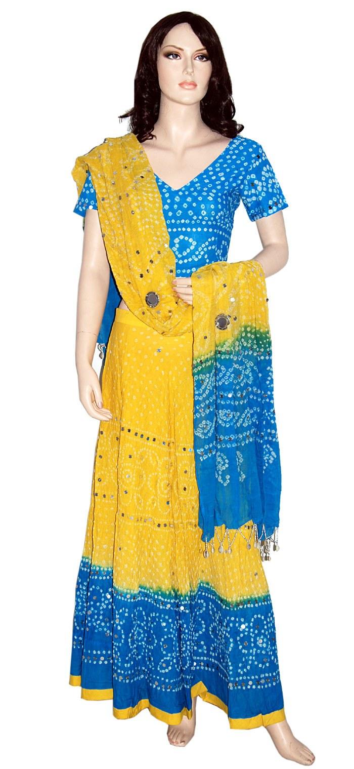 Jaipuri Bandhej Lehenga Choli Online Shopping
