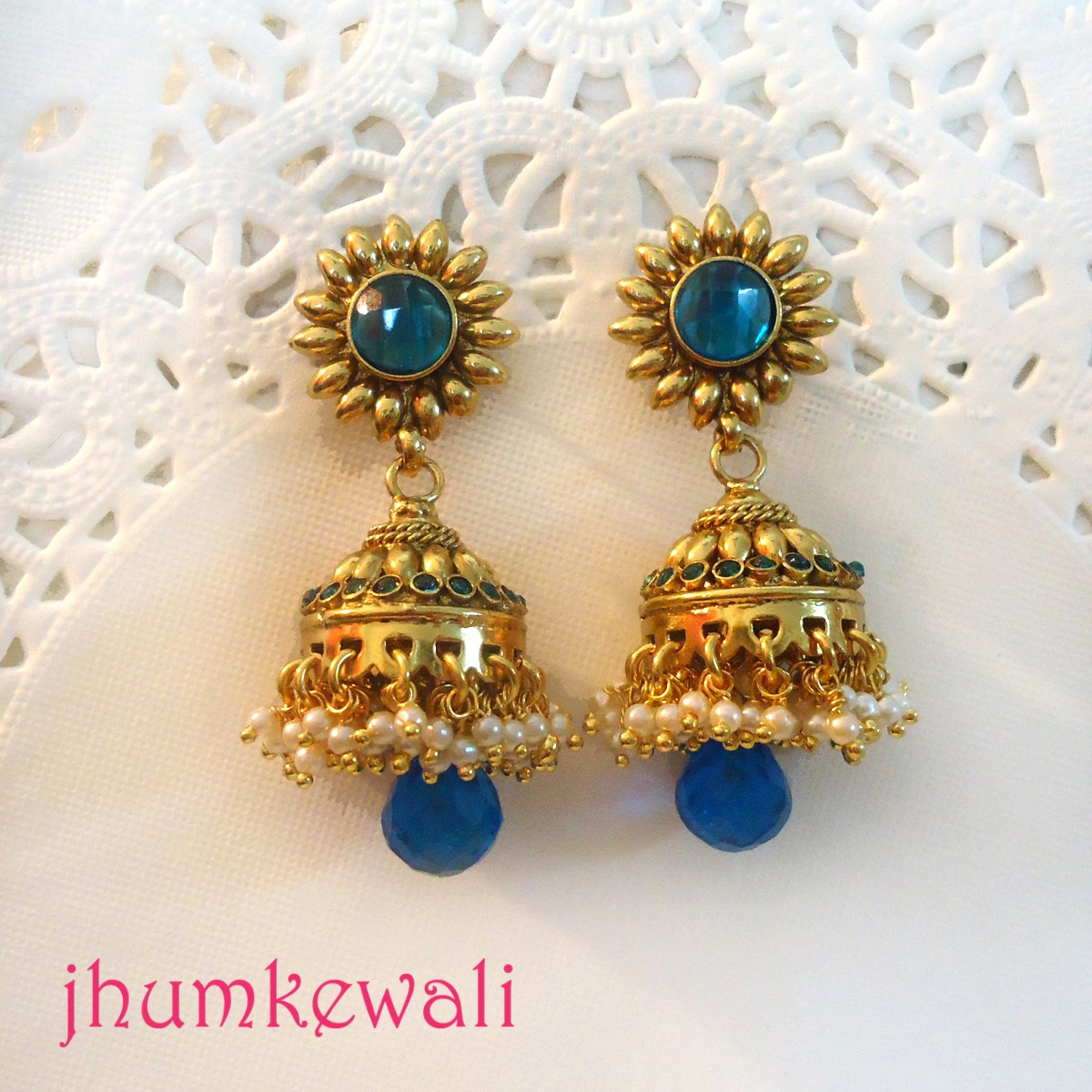 Gold jhumkas online shopping india