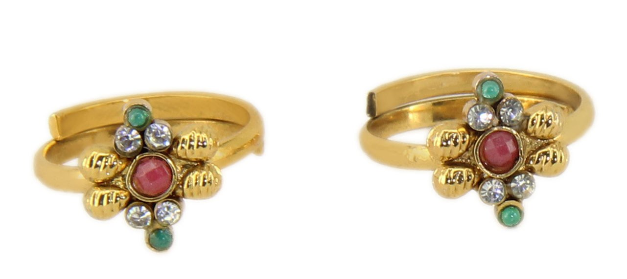 Toe Rings Designs in Gold Gold Foil Designer Toe Ring