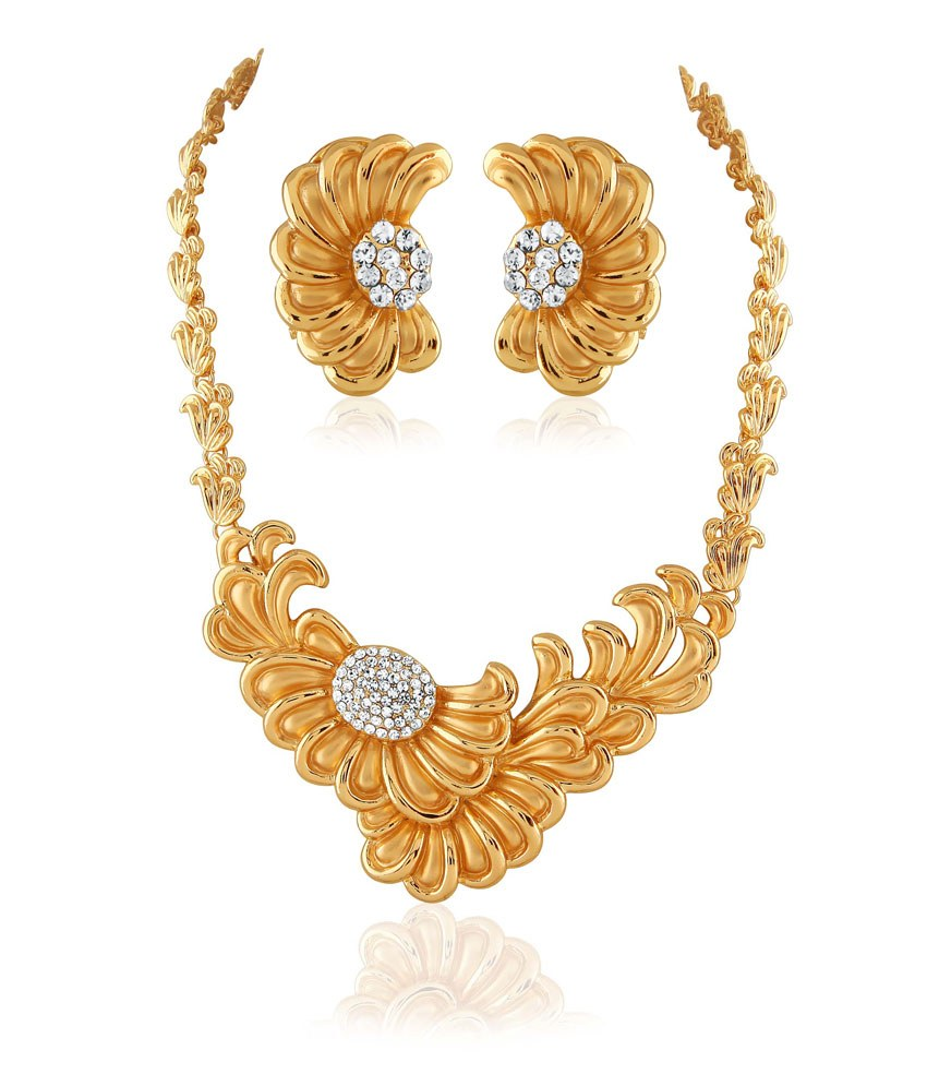 kbk jewels fancy designer necklace set online shopping. Black Bedroom Furniture Sets. Home Design Ideas