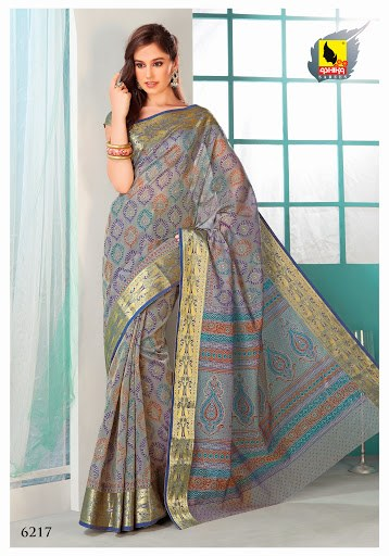 Saree Grey Colour In CottonSelf Work Border Amp Machine
