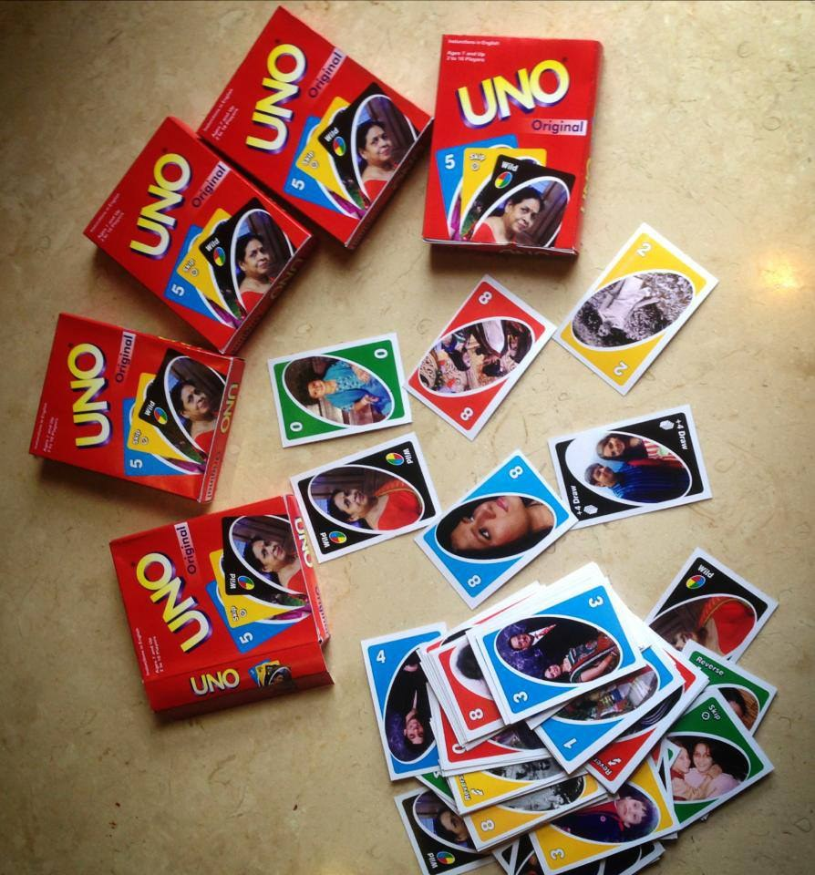 personalized laminated uno cards for your family kb003