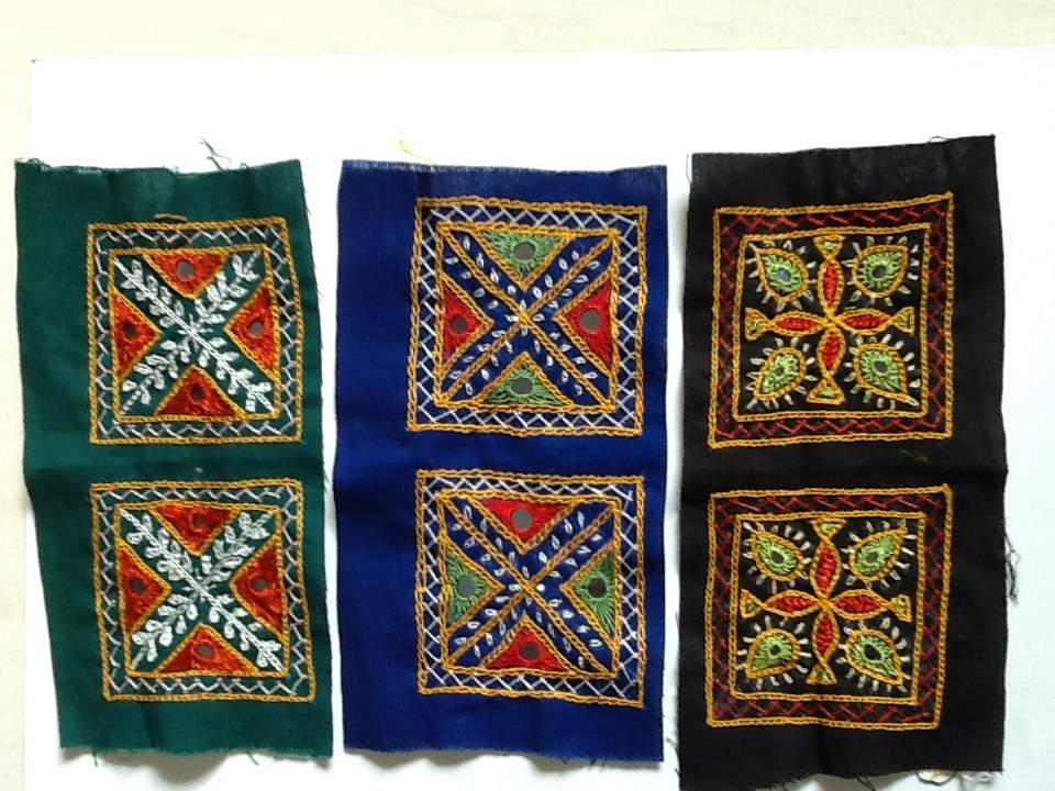 Kutch handwoven mirror patches-Online Shopping-