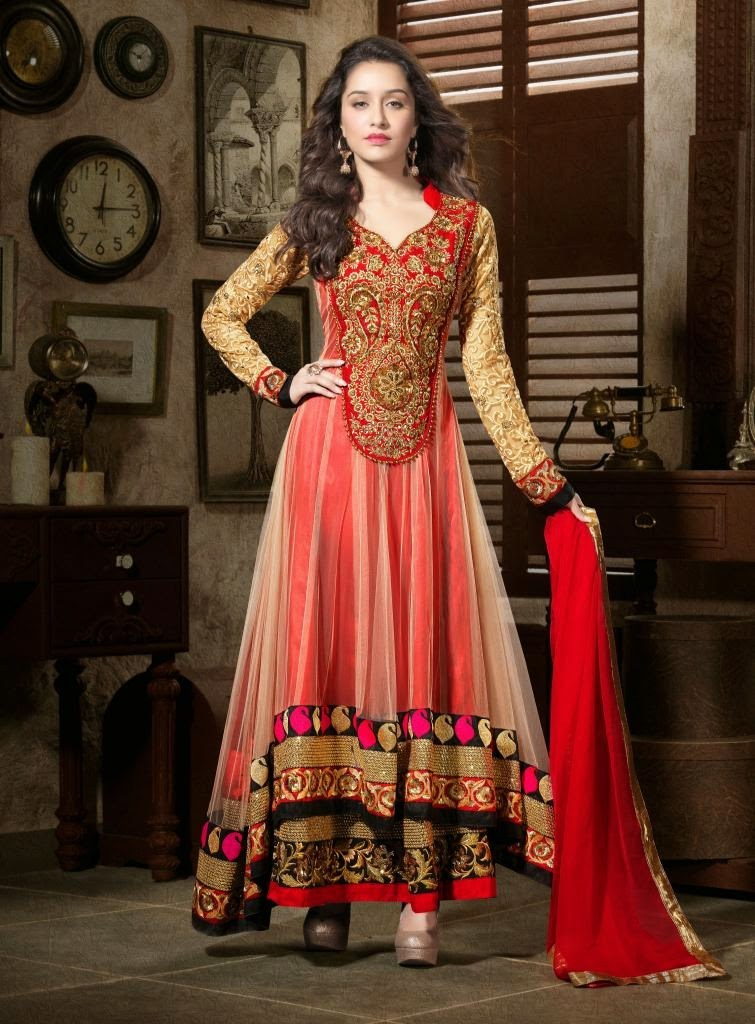 Indian bollywood designer anarkali party wear wedding for Luxury online shopping