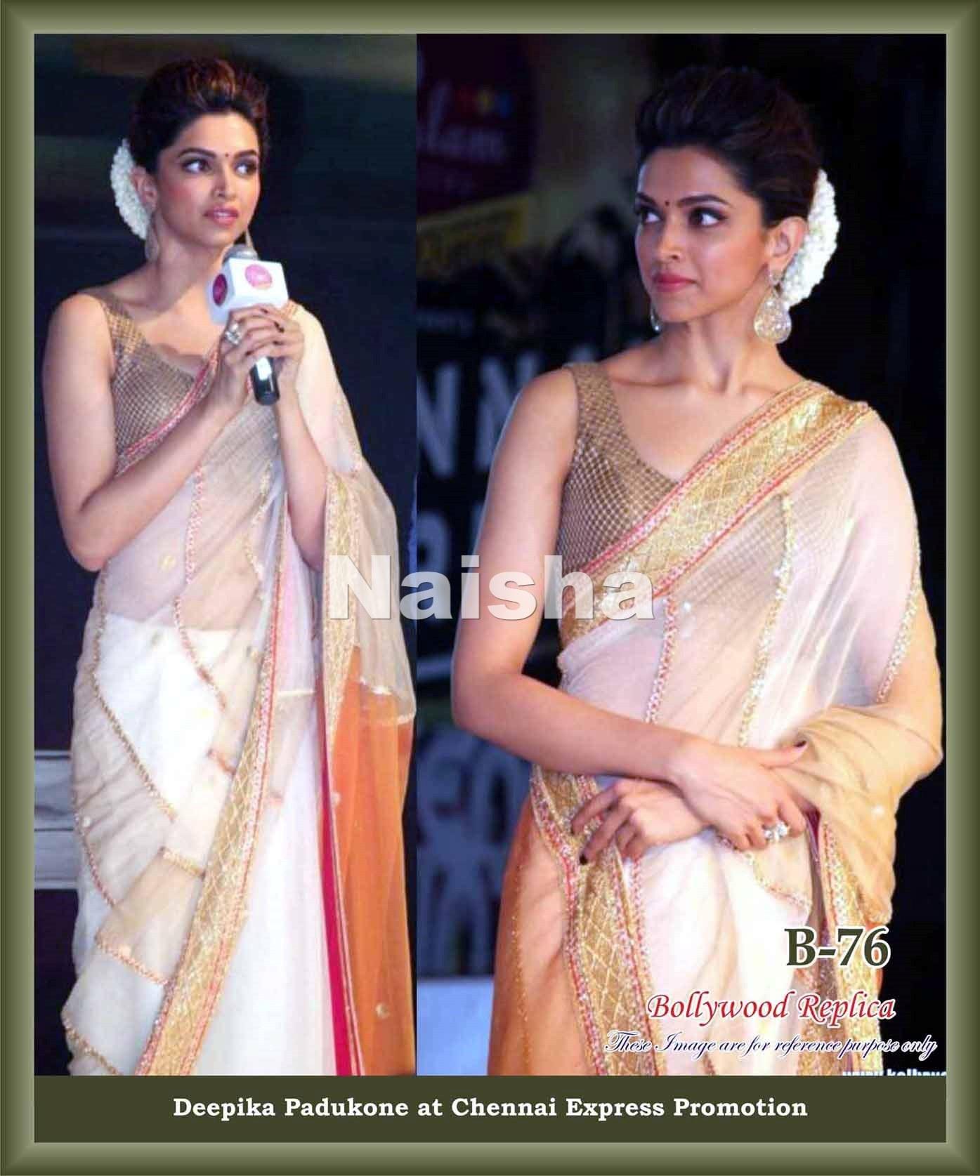 Deepika Padukone Chennai Express Promotion Saree-Online ...