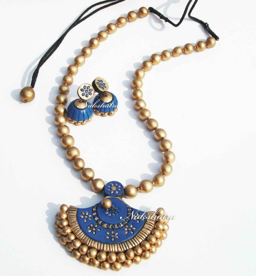 terracotta traditional necklace   online shopping for necklaces by