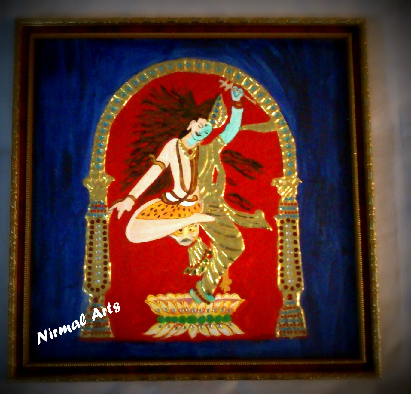 Tanjore arts and crafts for Arts crafts home decoration